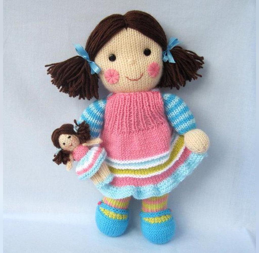 عکس عروسک بافتنی مادر