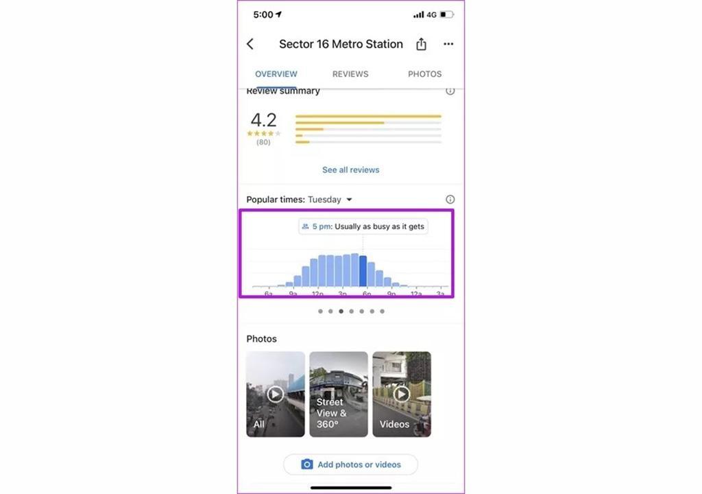 ساعت شلوغی در گوگل مپ