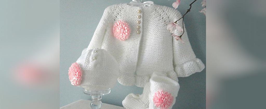 لباس بافتنی نوزاد با میل