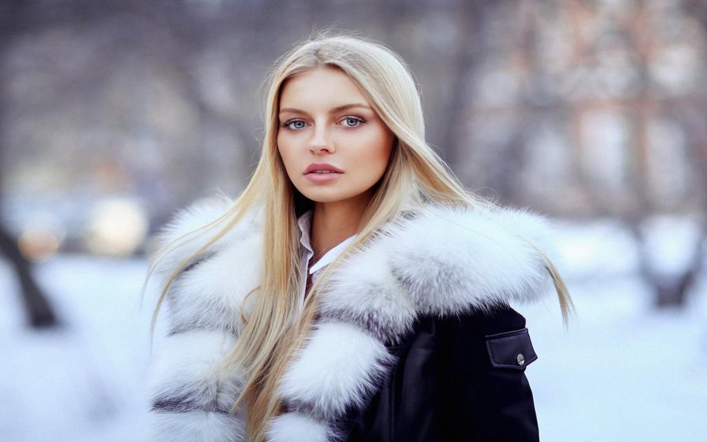 ژست عکاسی دخترانه در برف