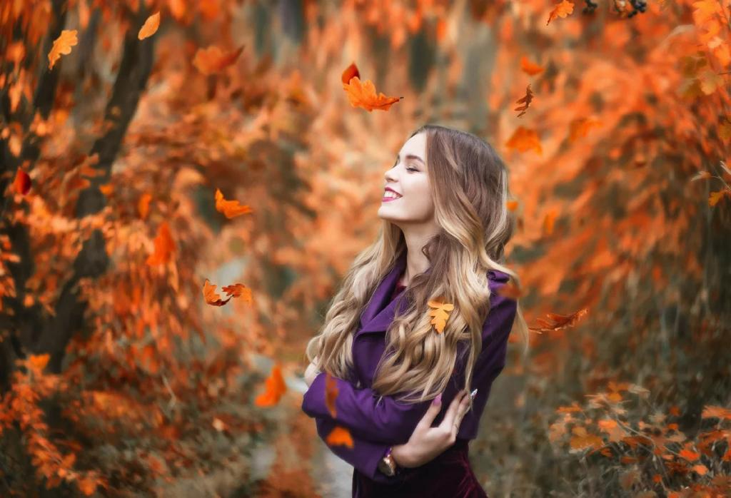 عکس پروفایل دخترانه طبیعت پاییزی