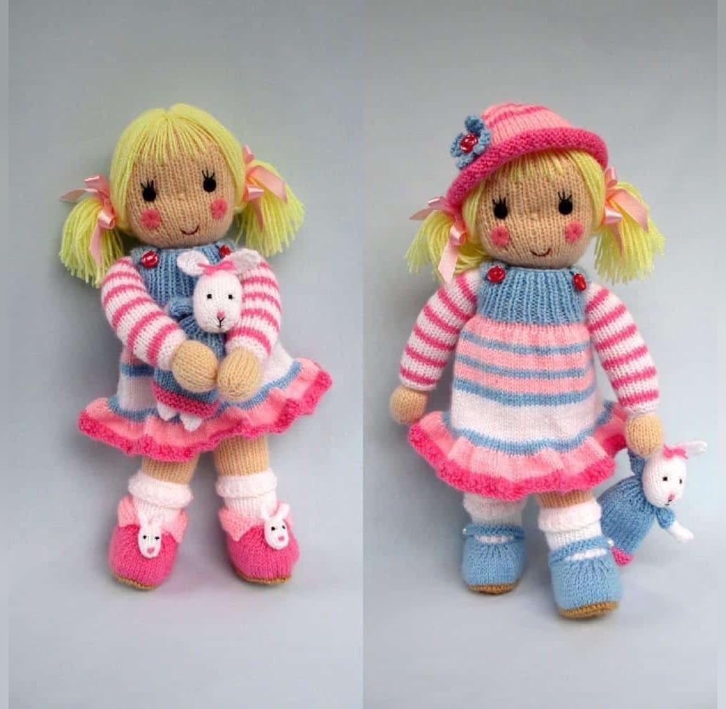 عکس عروسک بافتنی دختر بچه های دوقلو
