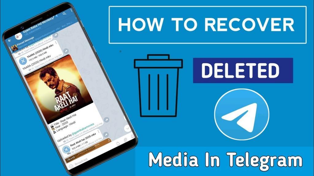 برگرداندن پیام های پاک شده تلگرام
