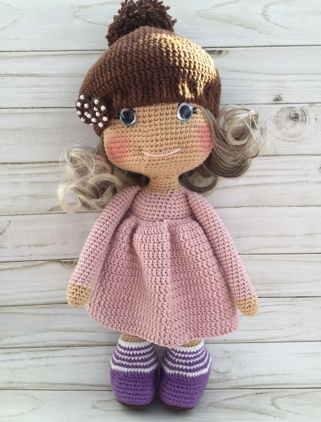عکس عروسک بافتنی دخترانه شیک