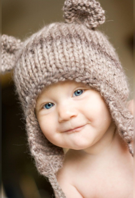 آموزش بافت کلاه گوشه دار برای نوزاد