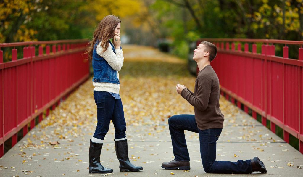 عکس ست دختر و پسر مدل تقاضای ازدواج عاشقانه