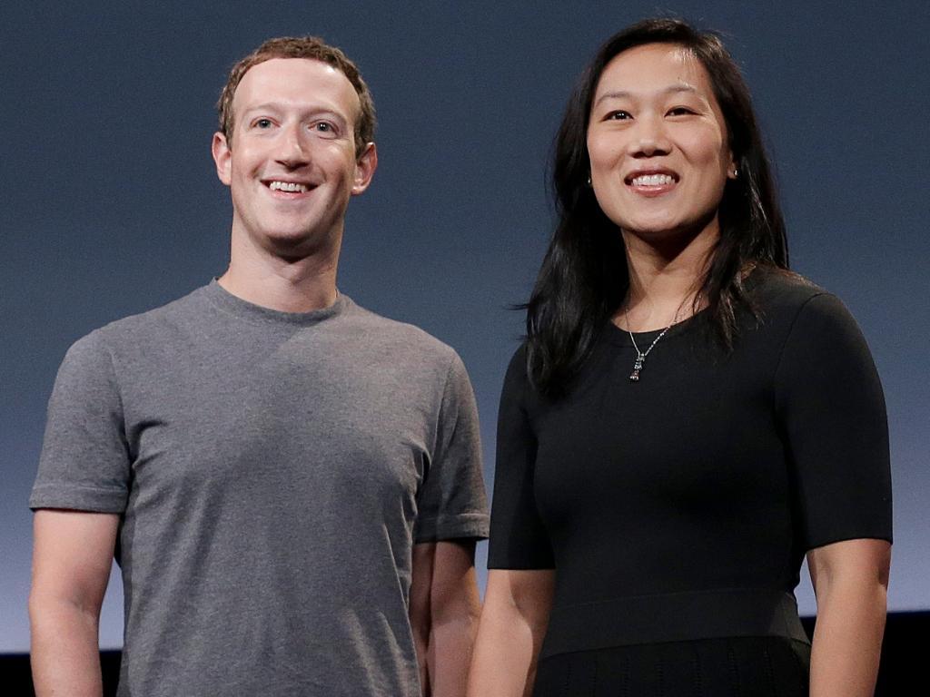 عکس مارک زاکربرگ و همسرش