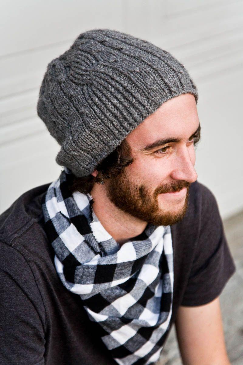 مدل کلاه بافتنی مردانه ساده و شیک
