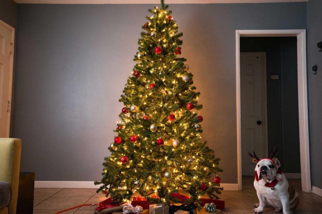 مدل تزیین ساده درخت کریسمس