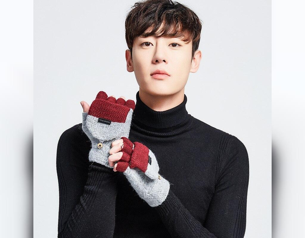 مدل دستکش بافتنی مردانه جدید و بند انگشتی