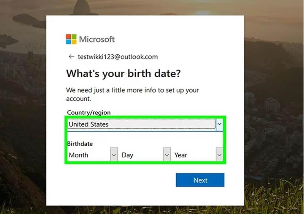 ویرایش اکانت مایکروسافت
