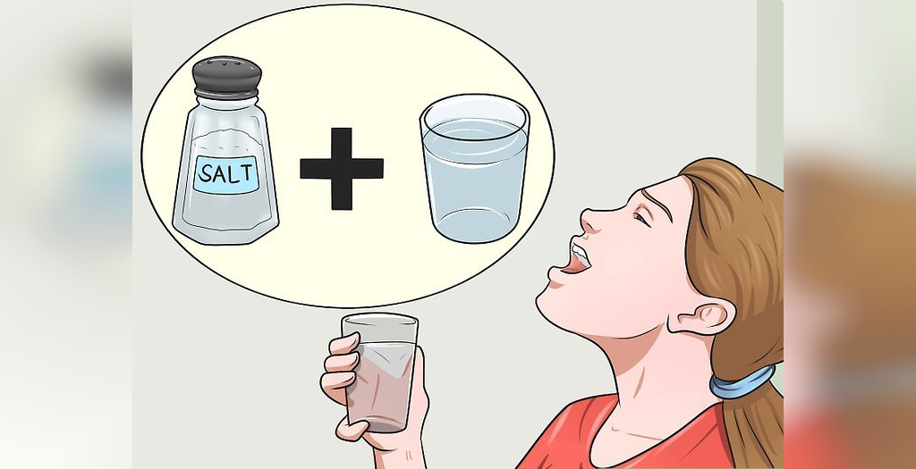 غرغره کردن آب نمک برای درمان آنفولانزا
