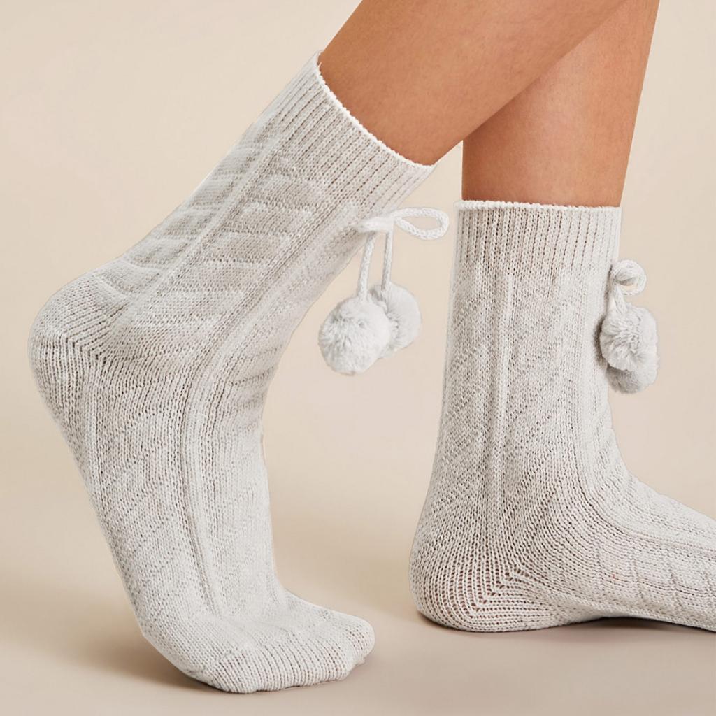 جوراب بافتنی زنانه ساق بلند