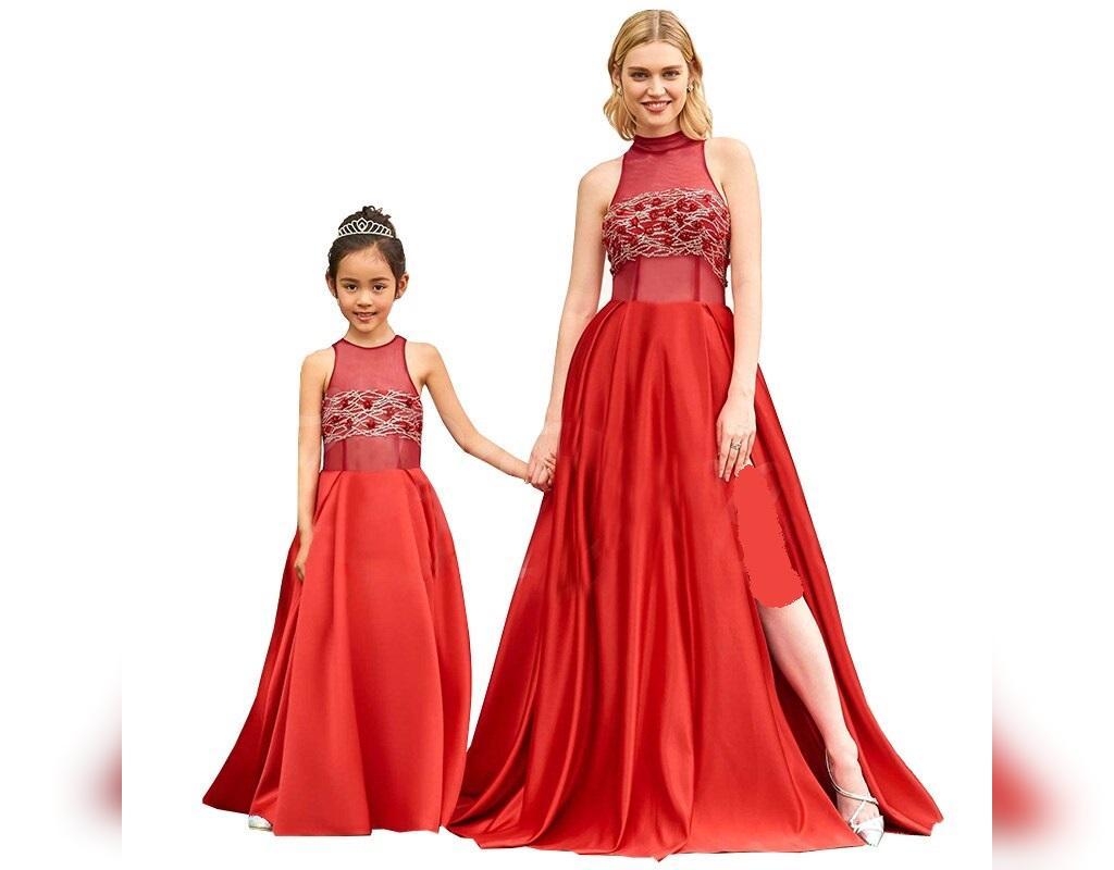 ست لباس بلند مجلسی مادر و دختر