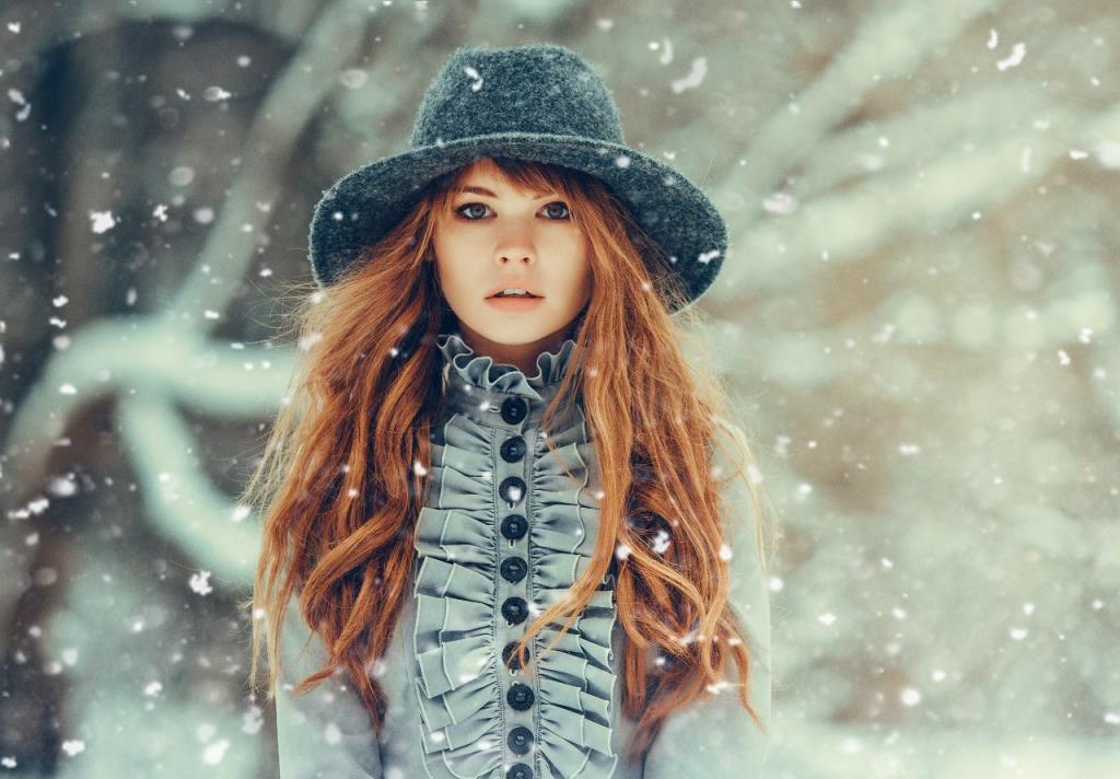 عکس زمستانی دخترانه لاکچری برای پروفایل