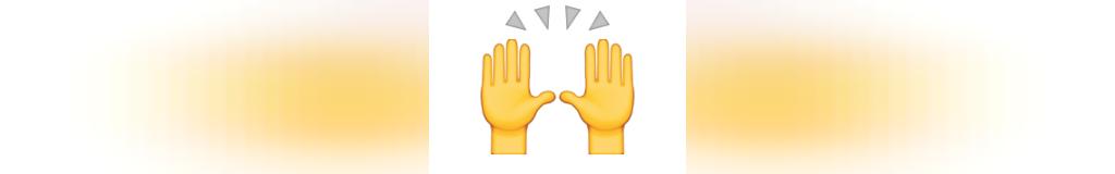 ایموجی دست ها بالا