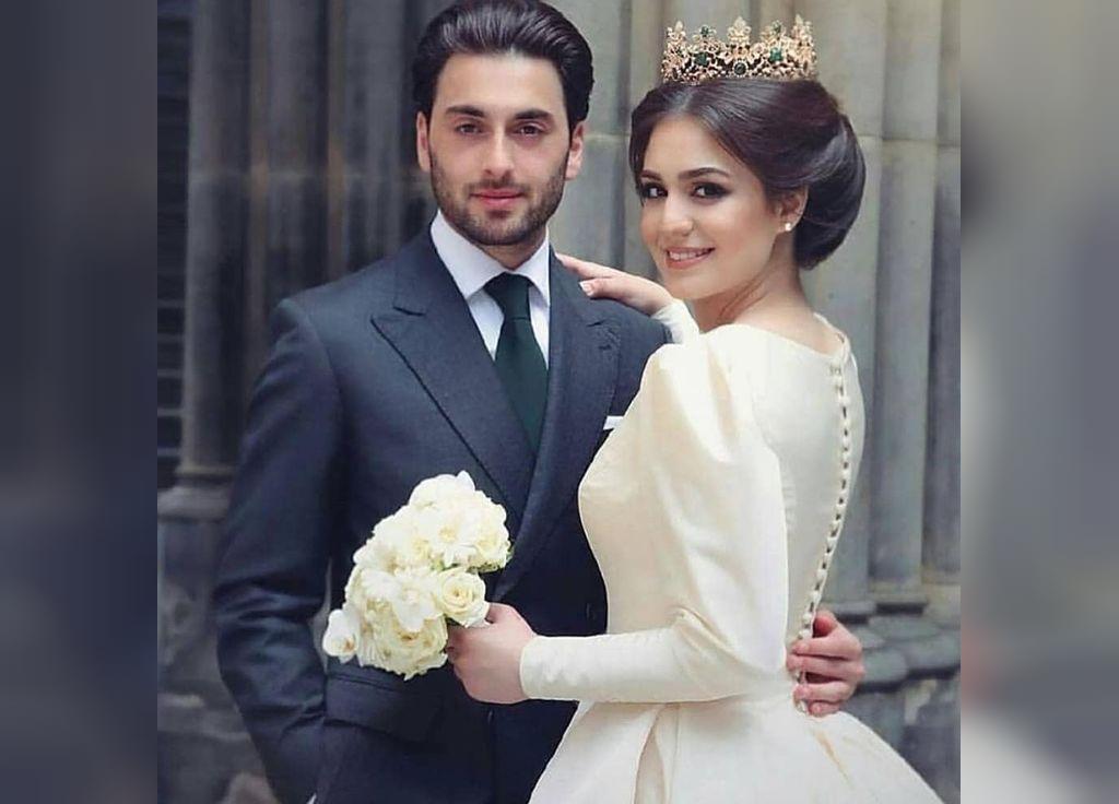 عکس عاشقانه عروس و داماد بدون متن
