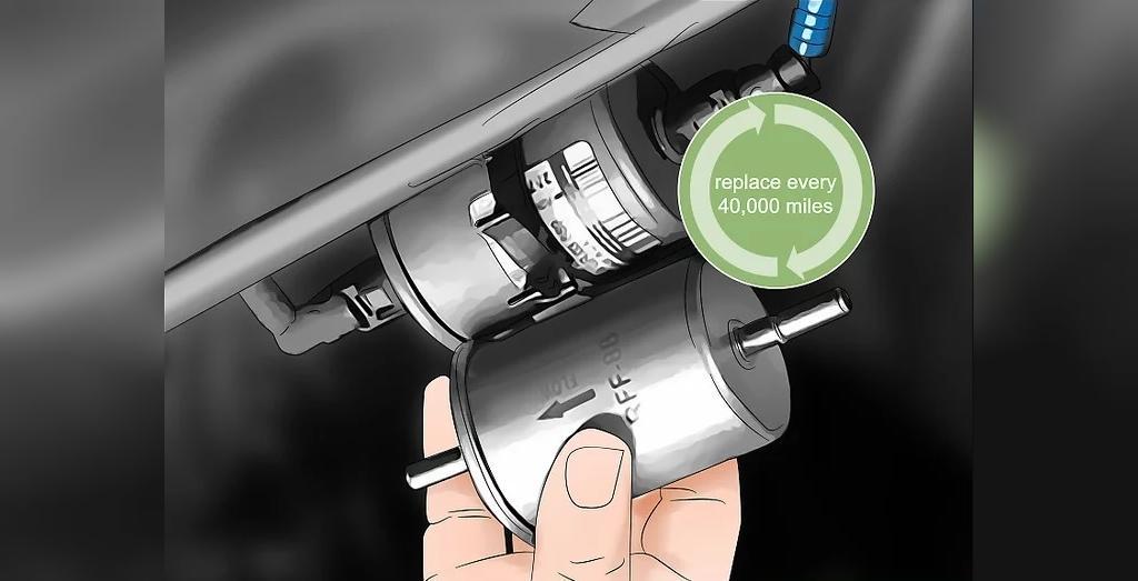 هر 65000 کیلومتر، فیلتر بنزین را تعویض نمایید