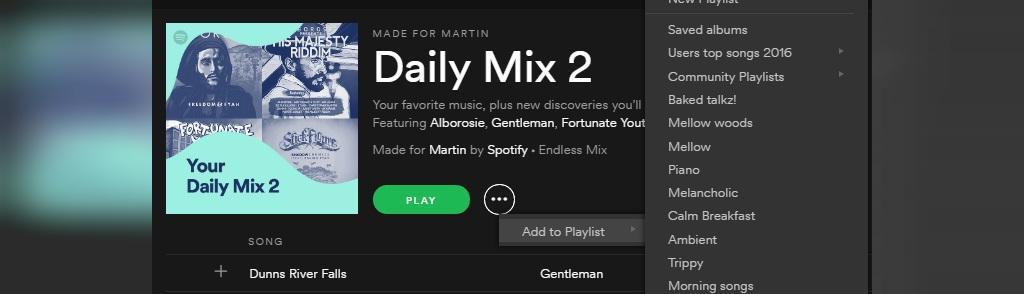 پلی لیست Daily Mix اسپاتیفا چیست؟