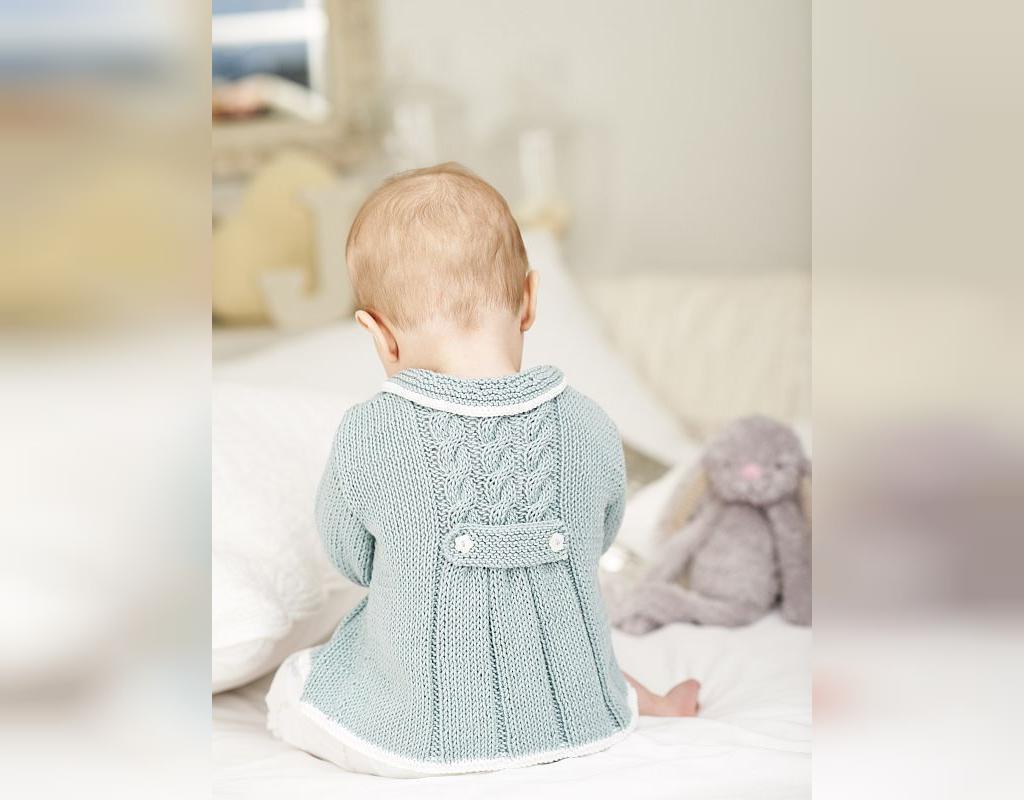 سارافون بافتنی نوزادی بچه گانه با قلاب