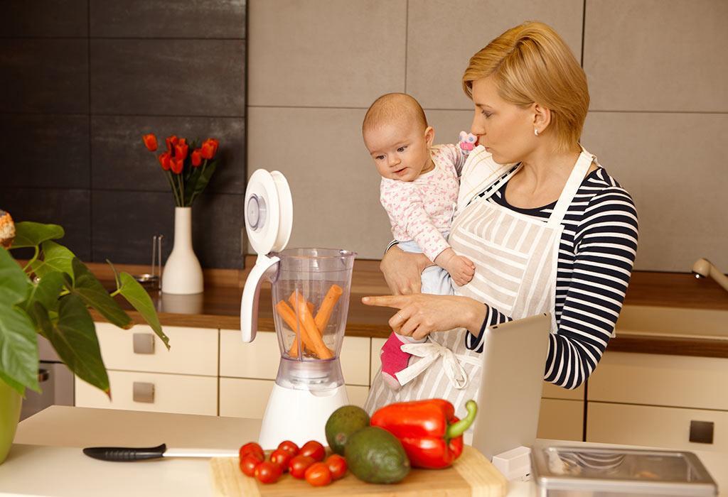 آیا باید غذاها را برای کودک 6 تا 9 ماهه خود له کرده یا پوره کنم؟