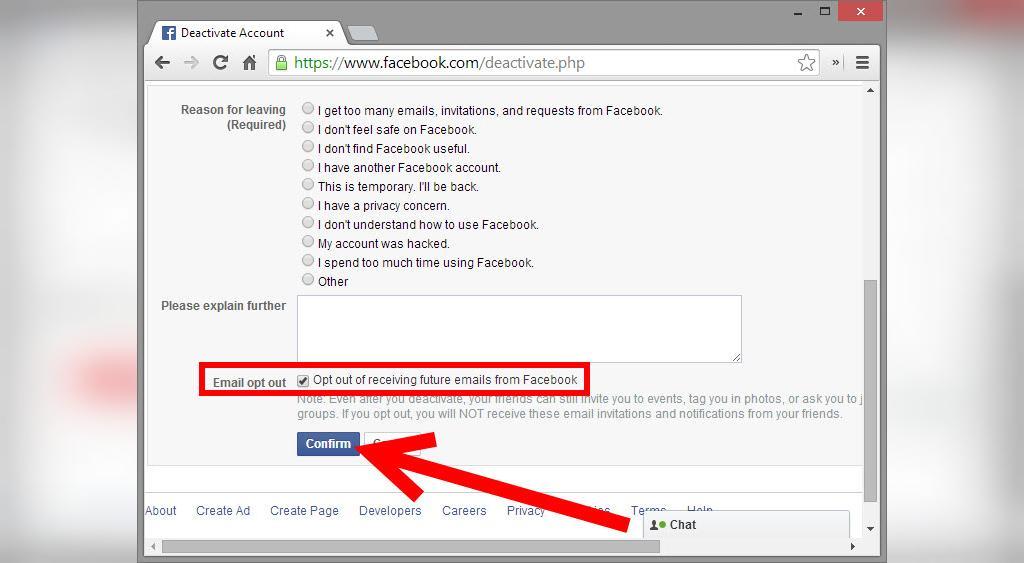 حذف اکانت فیسبوک به شکل موقت