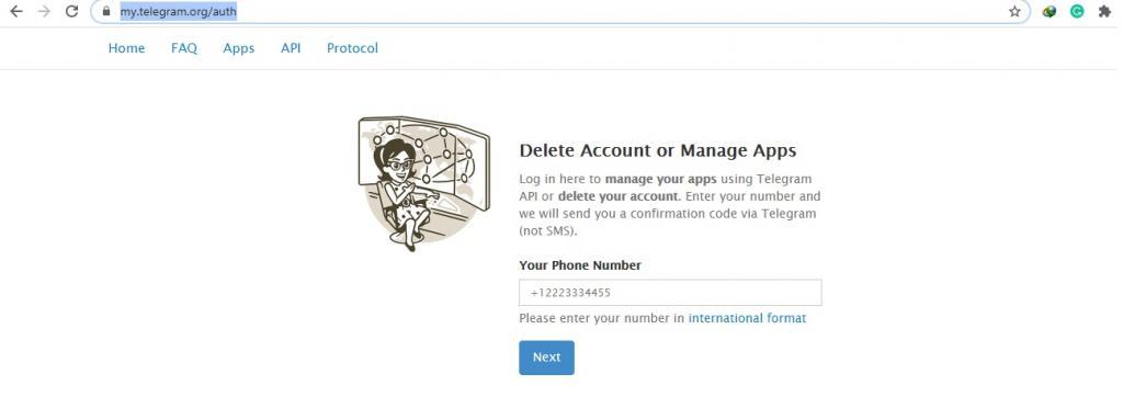 نحوه دیلیت اکانت در تلگرام