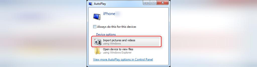 انتقال تصاویر از گوشی آیفون به کامپیوتر با استفاده از Autoplay