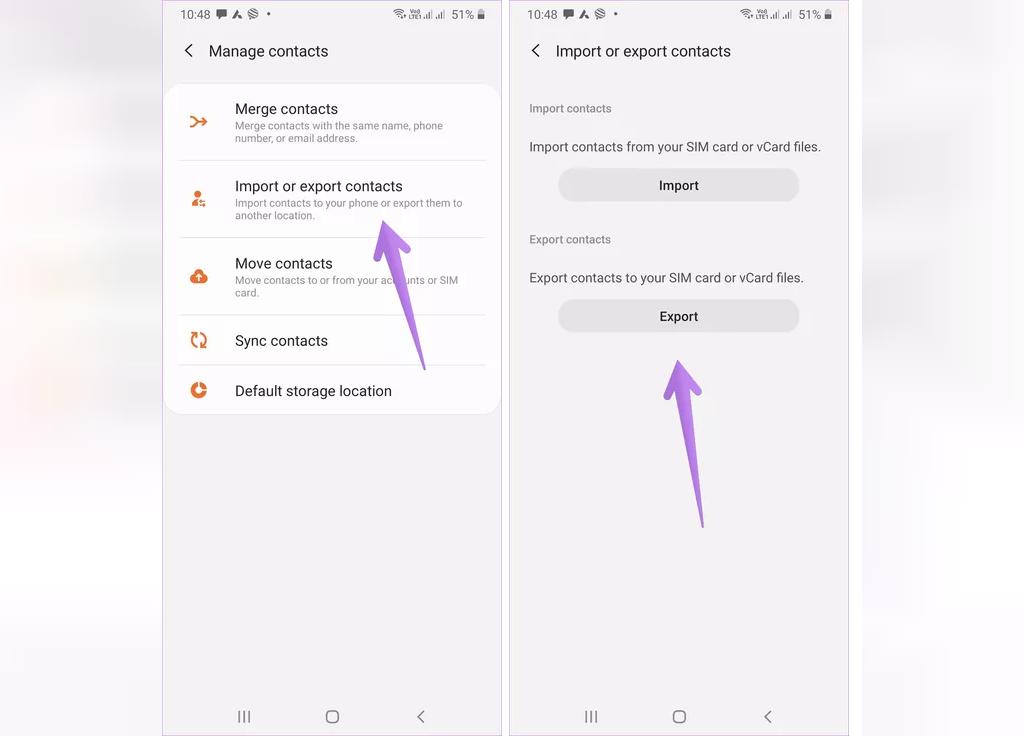 انتقال مخاطبین از حساب گوگل به گوشی