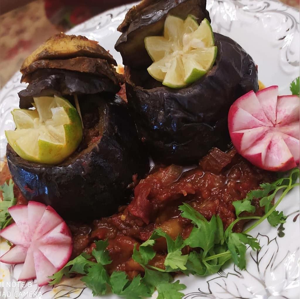 طرز تهیه دلمه بادمجان ترکی خوشمز با گوشت چرخ کرده