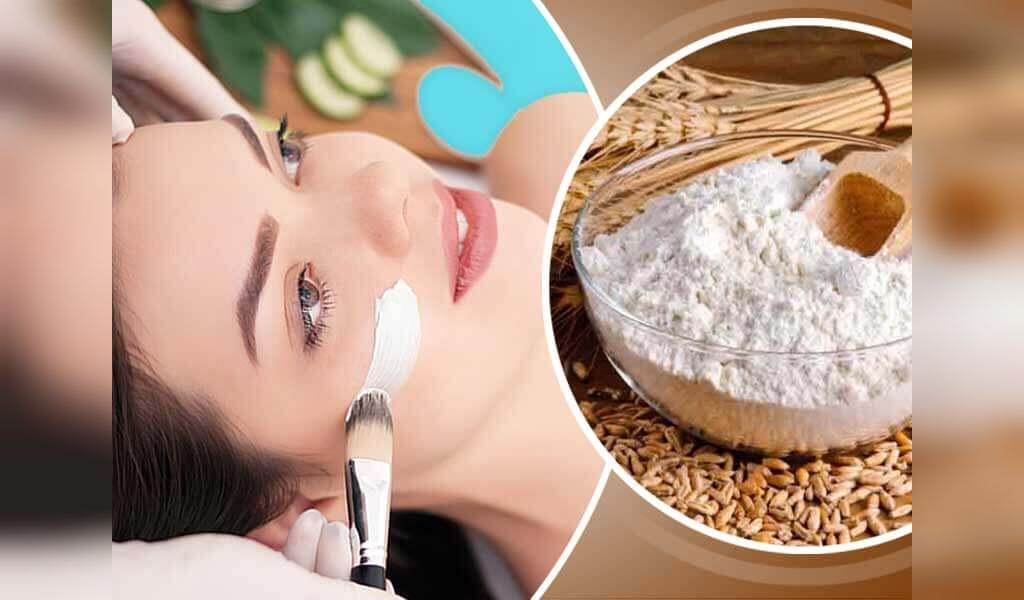 درمان جوش صورت با ماسک آردگندم و سکنجبین