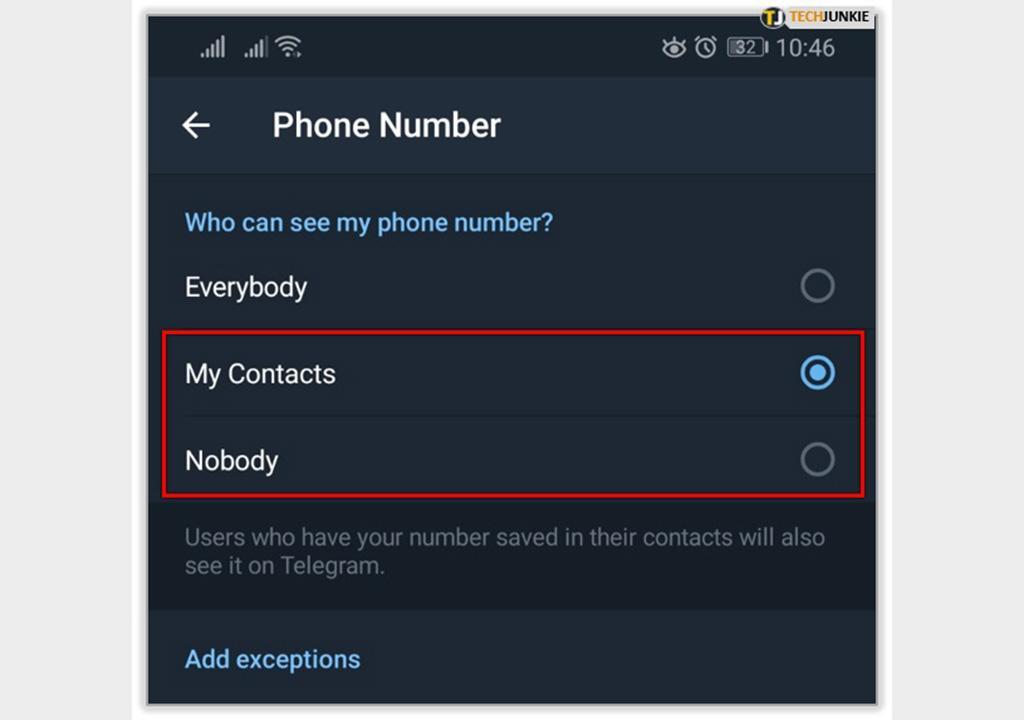 چطور شماره تلگرام دیده نمیشود