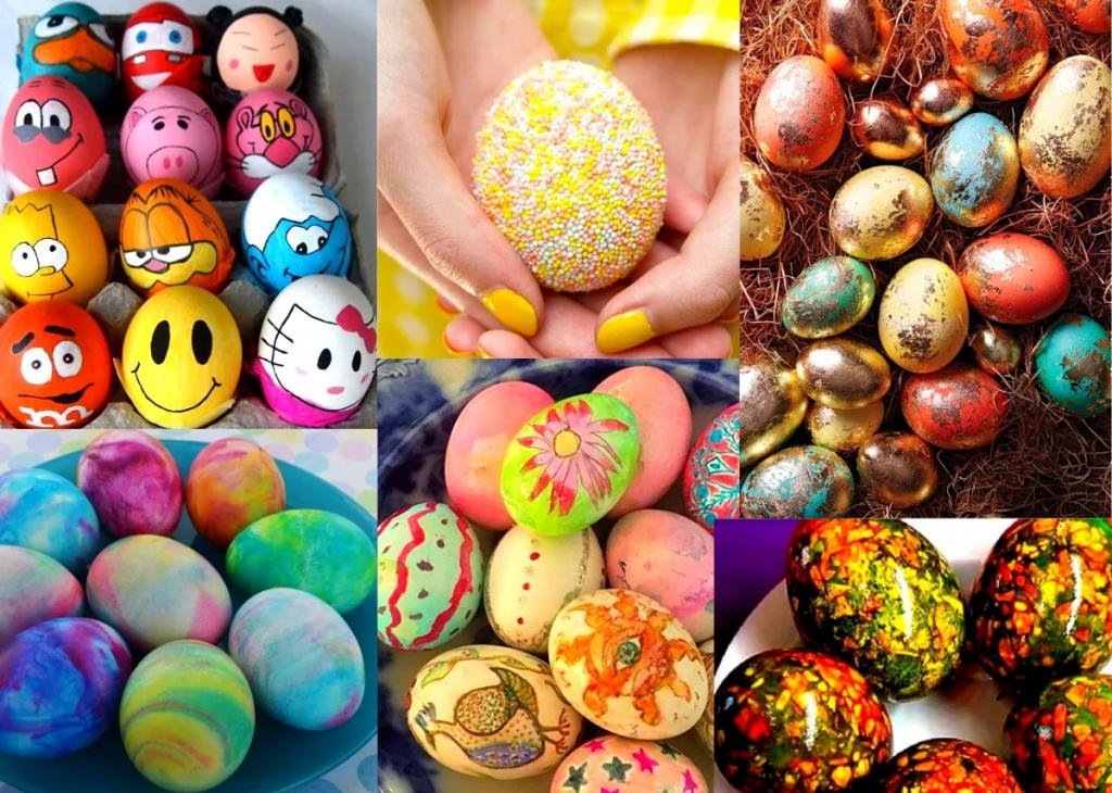 انواع تزیین تخم مرغ برای سفره هفت سین