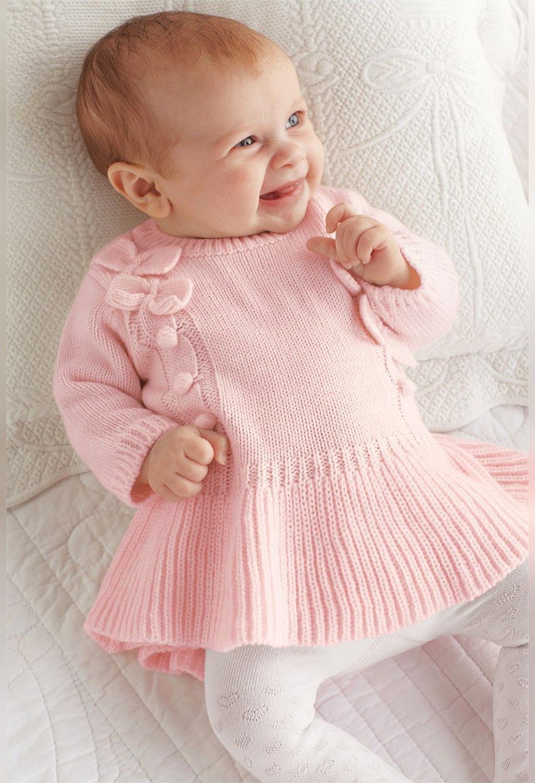 مدل ژورنالی لباس نوزادی بافتنی جدید