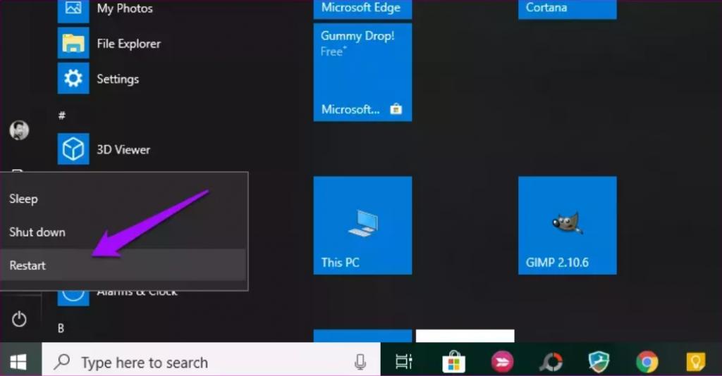 راه اندازی مجدد سیستم برای رفع مشکل به روز رسانی ویندوز 10