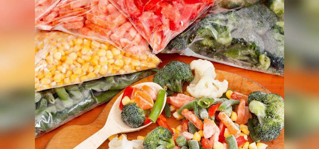 فریزر کردن سبزیجات