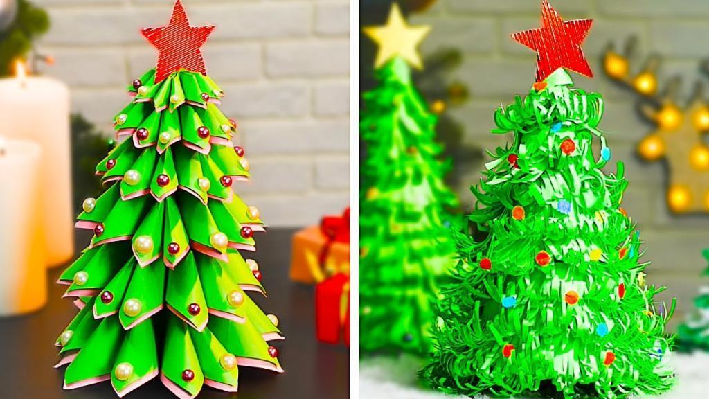 آموزش ساخت درخت کریسمس با مقوا به صورت 3 بعدی