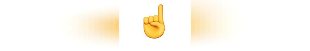 ایموجی (انگشت) اشاره به (سمت) بالا