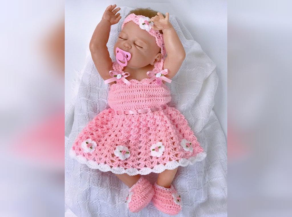 مدل ست ژورنالی لباس نوزادی بافتنی دخترانه