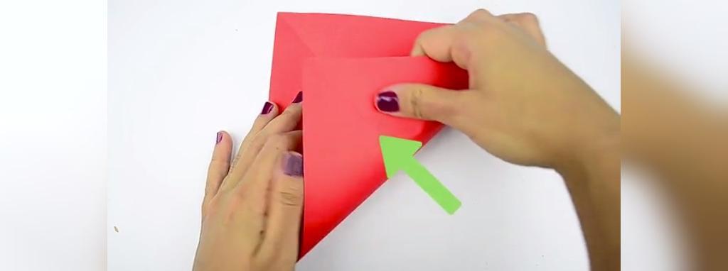 مراحل ساخت قلب کاغذی زیبا