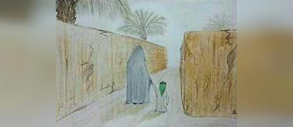 تصویر و نقاشی کودکانه حضرت فاطمه زهرا سلام الله علیها