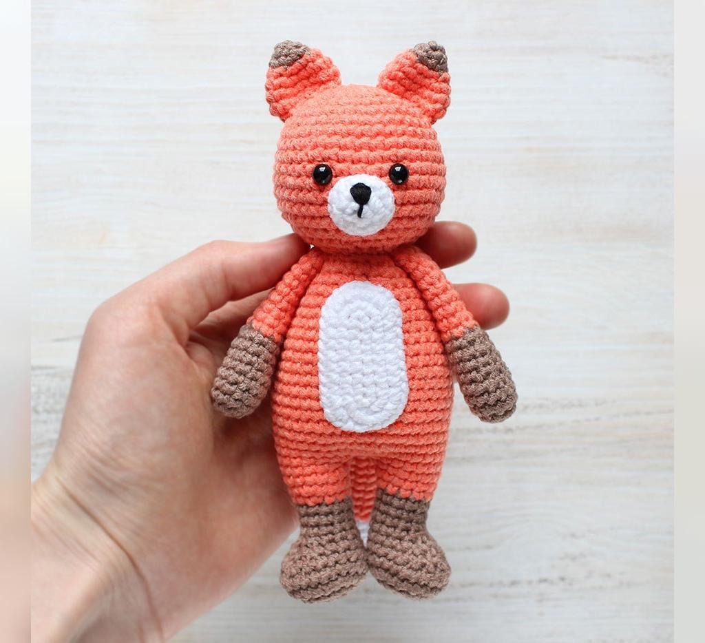 مدل عروسک بافتنی روباه مهربون
