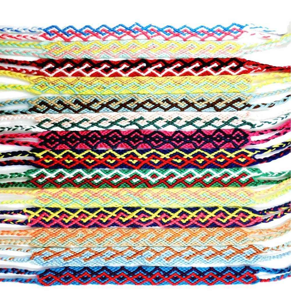 عکس انواع دستبند بافتنی رنگی ساده