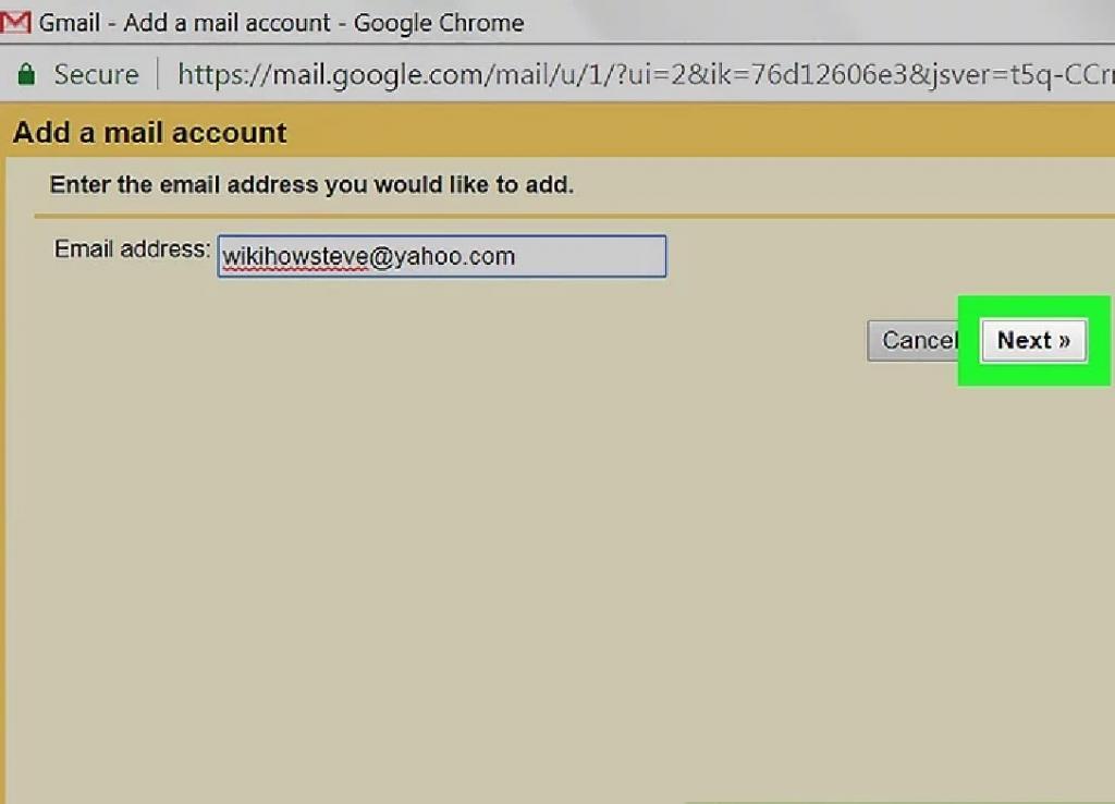 مراحل دریافت ایمیل یاهو در حساب جیمیل