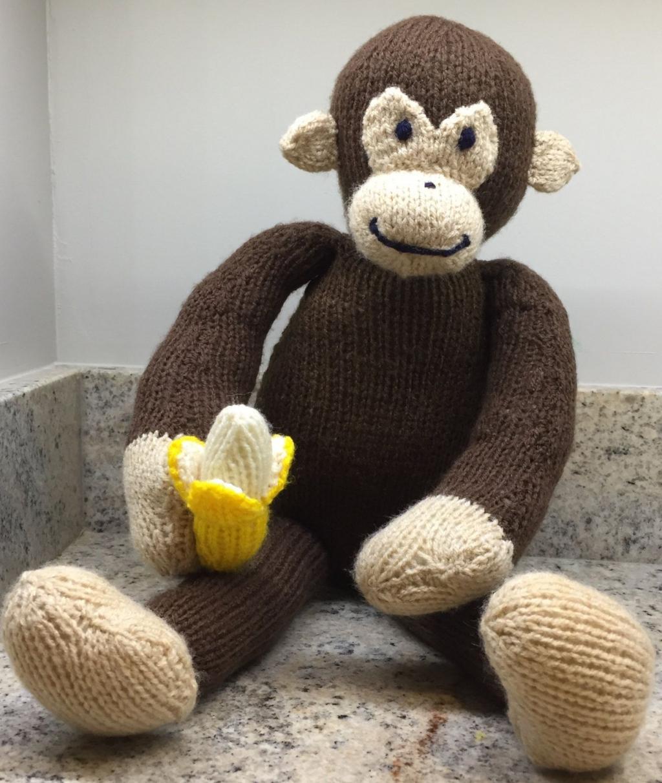 مدل عروسک بافتنی میمون ناقالا
