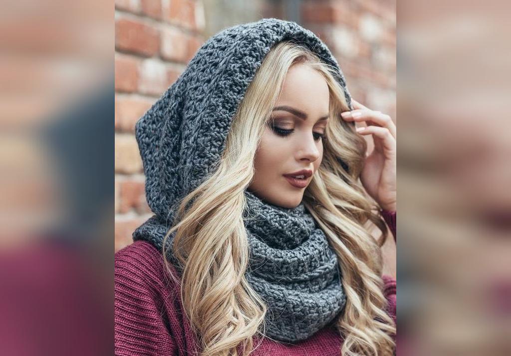 ژورنال روسری بافتنی زنانه جدید