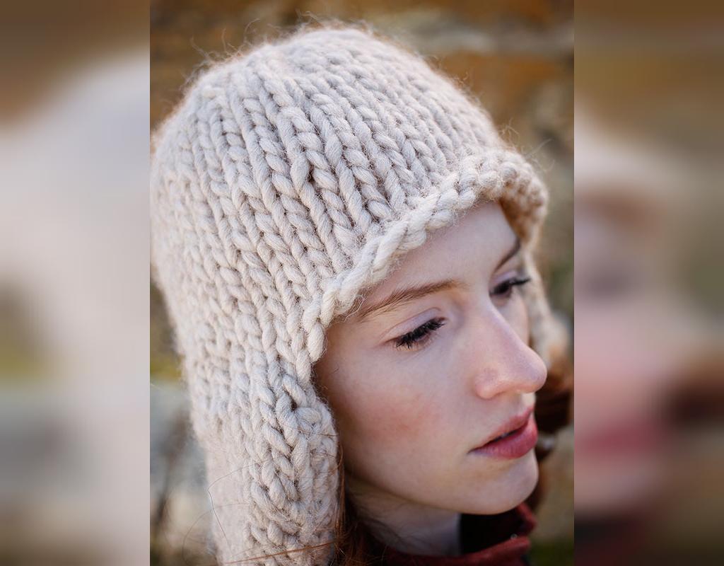 مدل کلاه بافتنی دخترانه ساده با قلاب