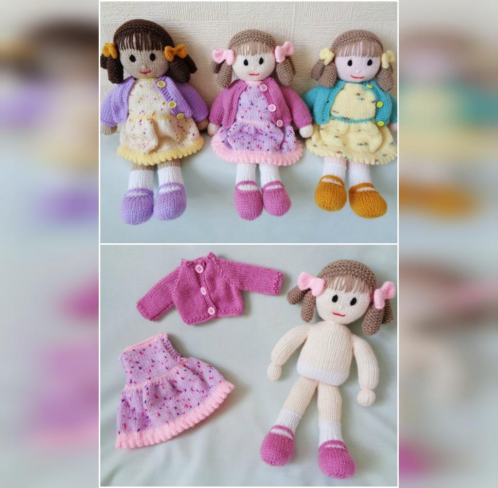 مدل عروسک بافتنی ساده دختر کوچولو ناز و شیک