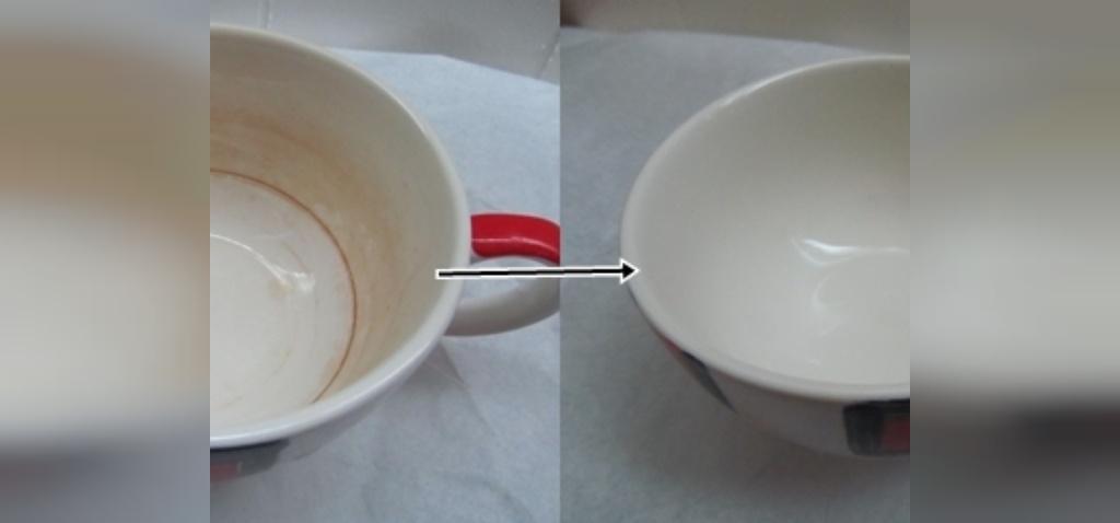 تمیز کردن لکه های چای و قهوه با جوش شیرین