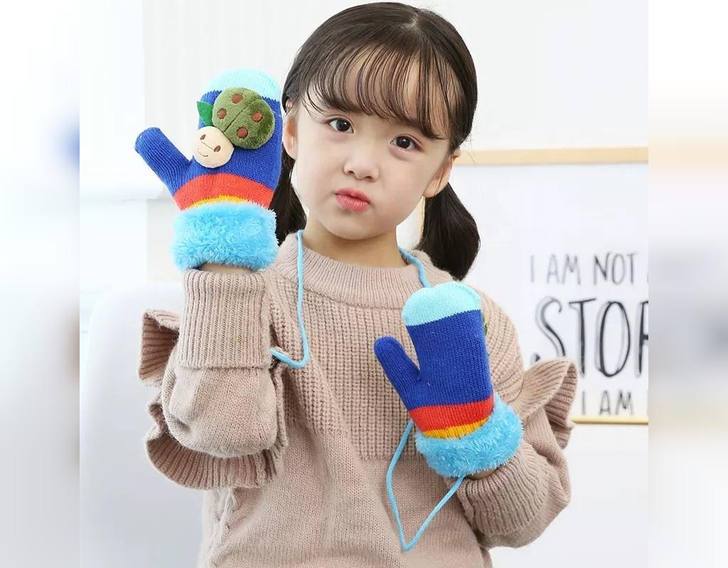 مدل دستکش بافتنی بچه گانه دخترانه
